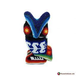 """Arte Huichol """"Búho"""" - Tienda Mexicana Online - Huastekoo España y Europa - H00758"""
