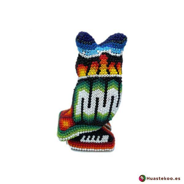 """Arte Huichol """"Búho"""" - Tienda Mexicana Online - Huastekoo España y Europa - H00758 - 3"""