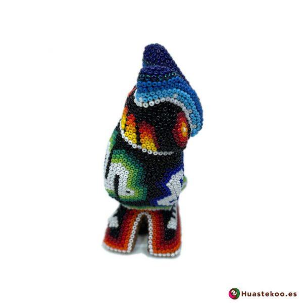 """Arte Huichol """"Búho"""" - Tienda Mexicana Online - Huastekoo España y Europa - H00758 - 4"""