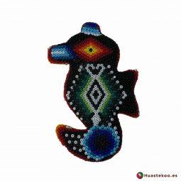 Caballito de Mar en Arte Huichol de la Tienda de Regalos Mexicanos Huastekoo España y Europa - H00745