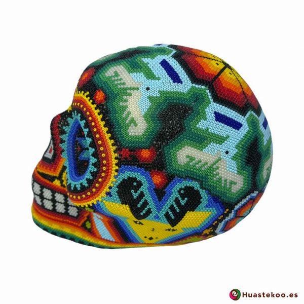 Calavera Grande en Arte Huichol de la Tienda de Regalos Mexicanos Huastekoo España y Europa - H00667 - 2