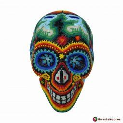 Calavera Grande en Arte Huichol de la Tienda de Regalos Mexicanos Huastekoo España y Europa - H00667 - 5
