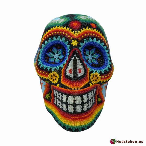 Calavera Grande en Arte Huichol de la Tienda de Regalos Mexicanos Huastekoo España y Europa - H00667