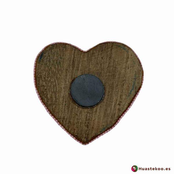 Corazón en Arte Huichol de la tienda mexicana online Huastekoo España y Europa - H00742 - 2