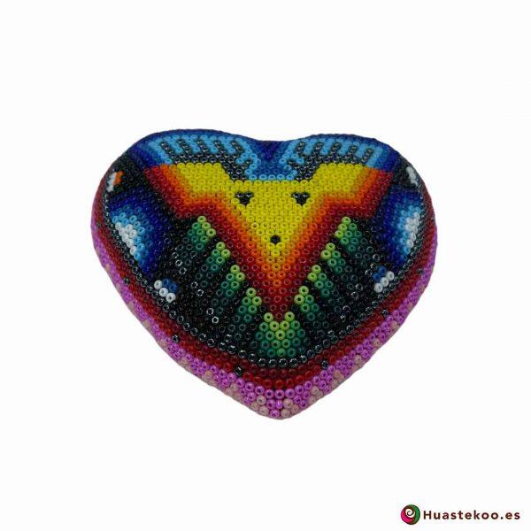 Corazón en Arte Huichol de la tienda mexicana online Huastekoo España y Europa - H00742