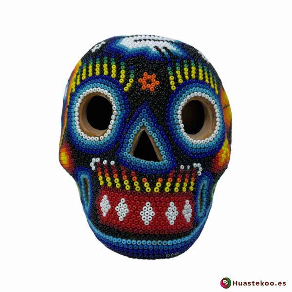 Calavera en Arte Huichol de la Tienda de Regalos Mexicanos Huastekoo España y Europa - H00766 - 5