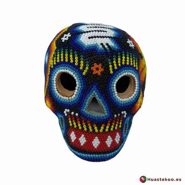 Calavera en Arte Huichol de la Tienda de Regalos Mexicanos Huastekoo España y Europa - H00766