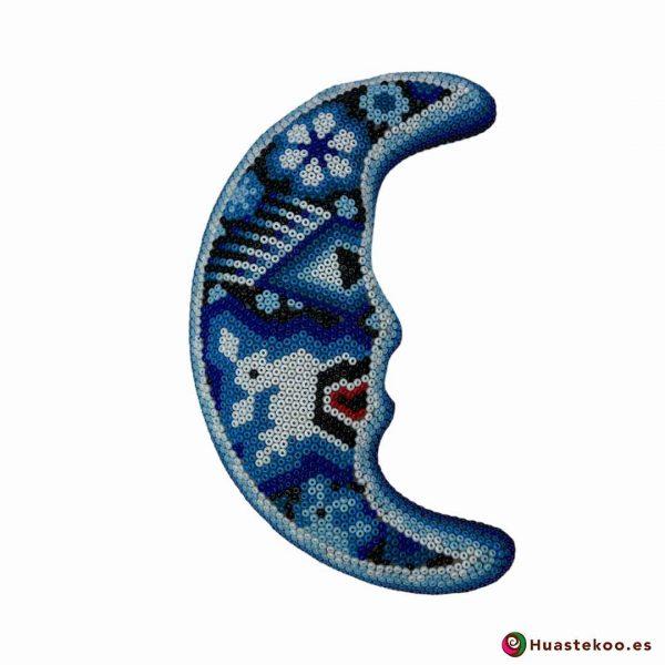 Luna en Arte Huichol - Tienda de Regalos Originales Mexicanos - Huastekoo España y Europa - H00670