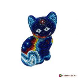 """Arte Huichol """"gato"""" - Tienda Mexicana Online - Huastekoo España y Europa - H00759"""