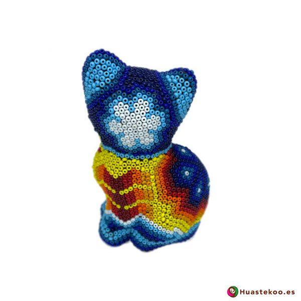 """Arte Huichol """"gato"""" - Tienda Mexicana Online - Huastekoo España y Europa - H00759 - 3"""
