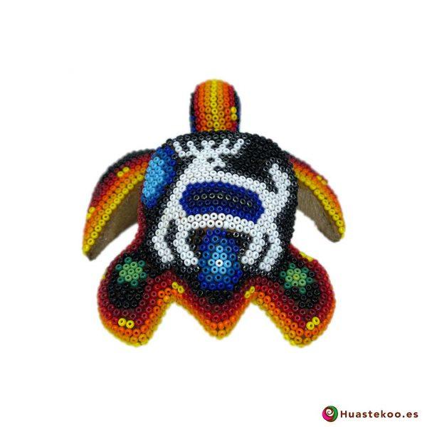 """Figura decorativa Arte Huichol """"Tortuga"""" - Tienda de Artesanía y Regalos Mexicanos - Huastekoo España y Europa - H00746 - 3"""