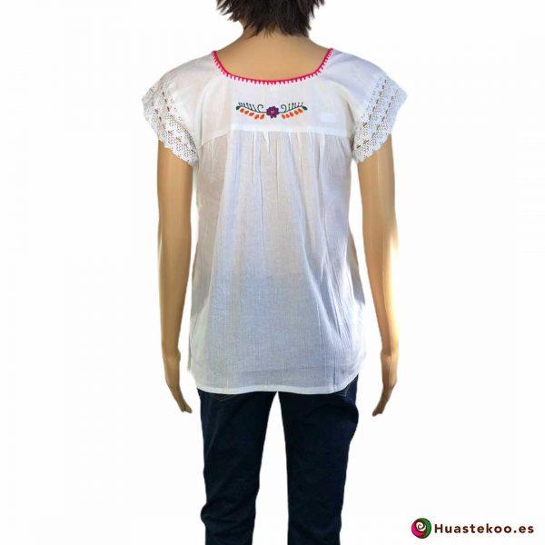 Blusa Mexicana artesanal bordada a mano de venta en la tienda online de regalos mexicanos Huastekoo España - H00123 -2