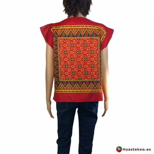 Blusa mexicana paliacate (pañuelo) color rojo - Tienda de regalos mexicanos Huastekoo España - H00017 - 2