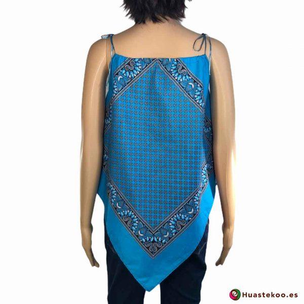 Blusa Mexicana paliacate azul - Tienda de artesanía y regalos mexicanos Huastekoo España y Europa - H000015 - 2