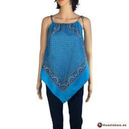 Blusa Mexicana paliacate azul - Tienda de artesanía y regalos mexicanos Huastekoo España y Europa - H000015