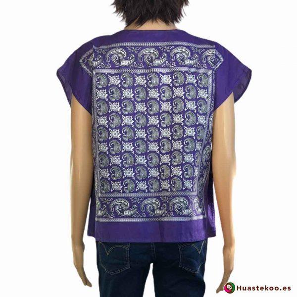 Blusa mexicana modelo paliacate (pañuelo) - Tienda de Regalos Mexicanos Huastekoo España - H00018 - 2
