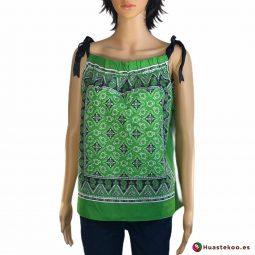 Comprar Blusa Mexicana paliacate verde a la venta en la tienda mexicana online Huastekoo España y Europa - H00016