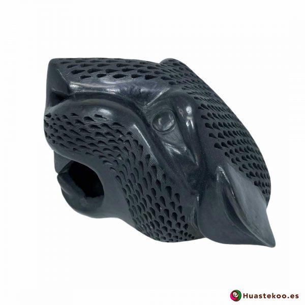 Replica de Cabeza de Jaguar Grande en Cerámica Barro Negro de la Tienda de Regalos Mexicanos Huastekoo España y Europa - H00793 - 2