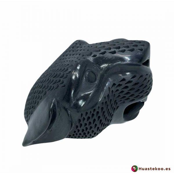 Replica de Cabeza de Jaguar Grande en Cerámica Barro Negro de la Tienda de Regalos Mexicanos Huastekoo España y Europa - H00793 - 4