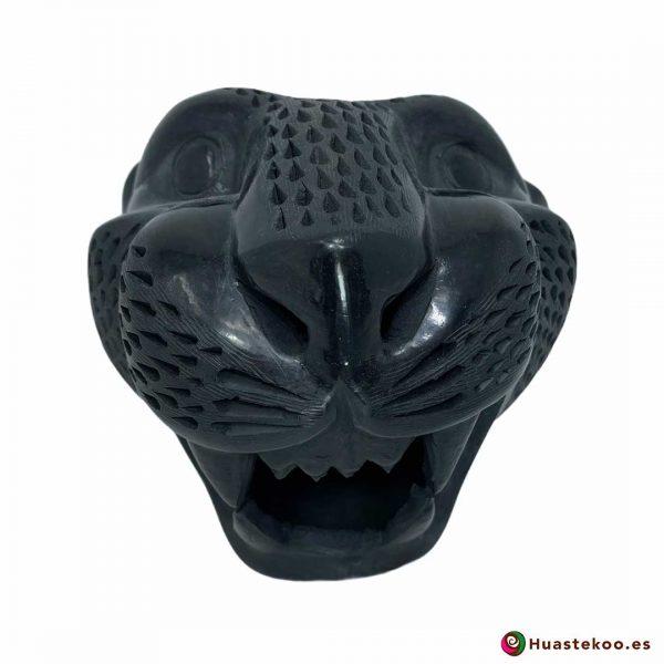 Replica de Cabeza de Jaguar Grande en Cerámica Barro Negro de la Tienda de Regalos Mexicanos Huastekoo España y Europa - H00793
