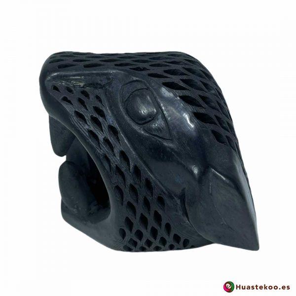 Replica Cabeza de Jaguar Pequeña hecha a mano de Cerámica de Barro negro de la Tienda Mexicana Online - Huastekoo España y Europa - H00738 - 2