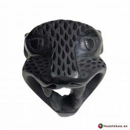 Replica Cabeza de Jaguar Pequeña hecha a mano de Cerámica de Barro negro de la Tienda Mexicana Online - Huastekoo España y Europa - H 00738