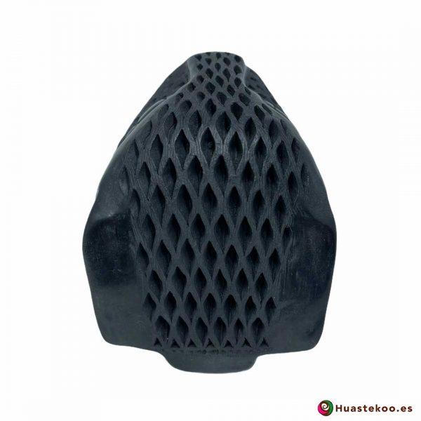 Replica Cabeza de Jaguar Pequeña hecha a mano de Cerámica de Barro negro de la Tienda Mexicana Online - Huastekoo España y Europa - H00738 - 3