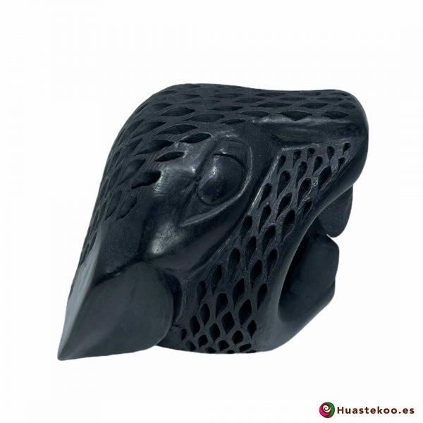Replica Cabeza de Jaguar Pequeña hecha a mano de Cerámica de Barro negro de la Tienda Mexicana Online - Huastekoo España y Europa - H00738 - 4