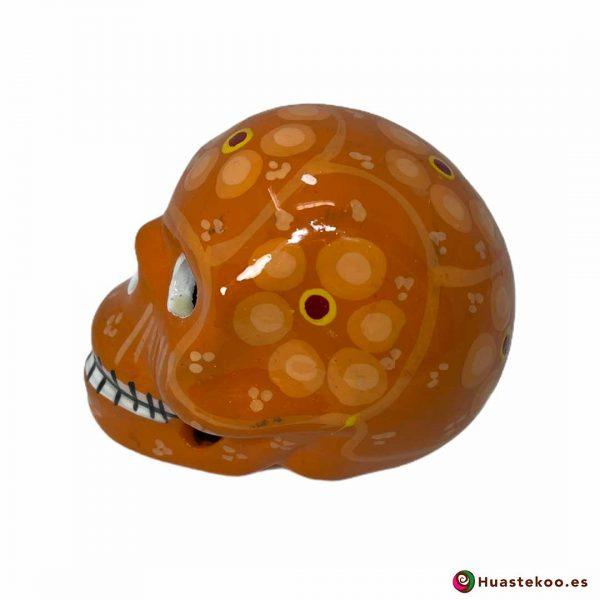 Calavera de cerámica mexicana de venta en la tienda de regalos mexicanos Huastekoo España y Europa - H00711 - 2
