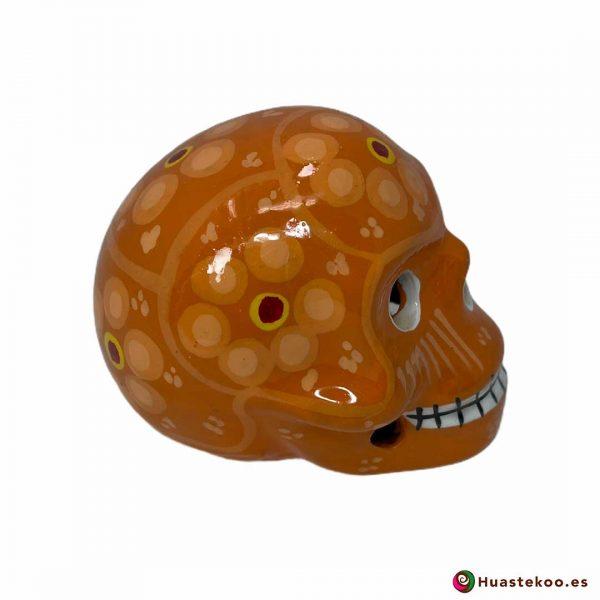 Calavera de cerámica mexicana de venta en la tienda de regalos mexicanos Huastekoo España y Europa - H00711 - 4