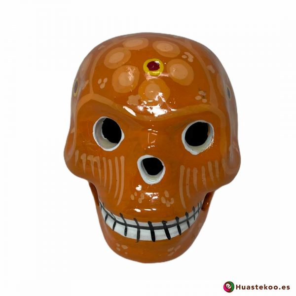 Calavera de cerámica mexicana de venta en la tienda de regalos mexicanos Huastekoo España y Europa - H00711