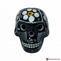 Calavera mexicana de cerámica pequeña - Tienda de regalos mexicanos Huastekoo España y Europa - H00715