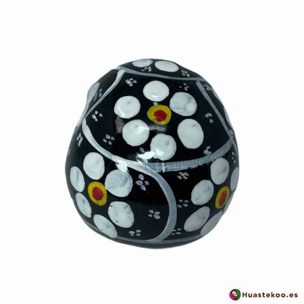Calavera mexicana de cerámica pequeña - Tienda de regalos mexicanos Huastekoo España y Europa - H00715 - 3
