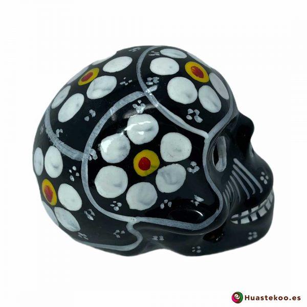Calavera mexicana de cerámica pequeña - Tienda de regalos mexicanos Huastekoo España y Europa - H00715 - 4