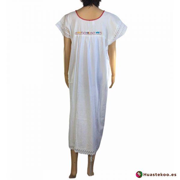 Comprar vestido mexicano largo artesanal bordado a mano a la venta en la tienda mexicana online Huastekoo España y Europa - H00115 - 2