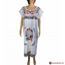 Comprar vestido mexicano largo artesanal bordado a mano a la venta en la tienda mexicana online Huastekoo España y Europa - H00115