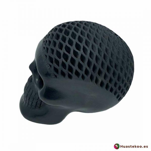 Cráneo (calavera) Grande de Barro Negro (cerámica begra) de la tienda mexicana online Huastekoo España y Europa - H00793 - 2