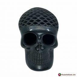 Cráneo (calavera) Grande de Barro Negro (cerámica begra) de la tienda mexicana online Huastekoo España y Europa - H00793
