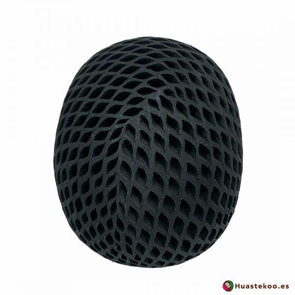 Cráneo (calavera) Grande de Barro Negro (cerámica begra) de la tienda mexicana online Huastekoo España y Europa - H00793 - 3