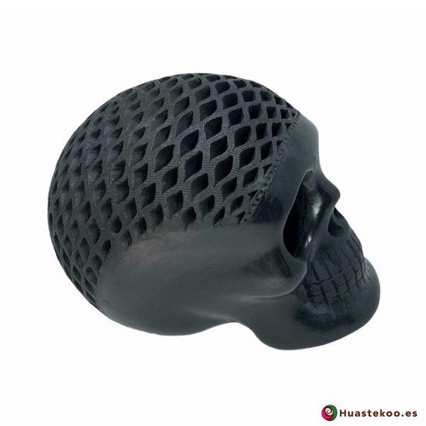 Cráneo (calavera) Grande de Barro Negro (cerámica begra) de la tienda mexicana online Huastekoo España y Europa - H00793 - 4