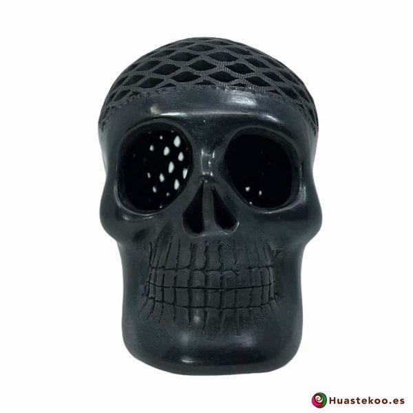 Cráneo (calavera) Grande de Barro Negro (cerámica begra) de la tienda mexicana online Huastekoo España y Europa - H00793 - 5