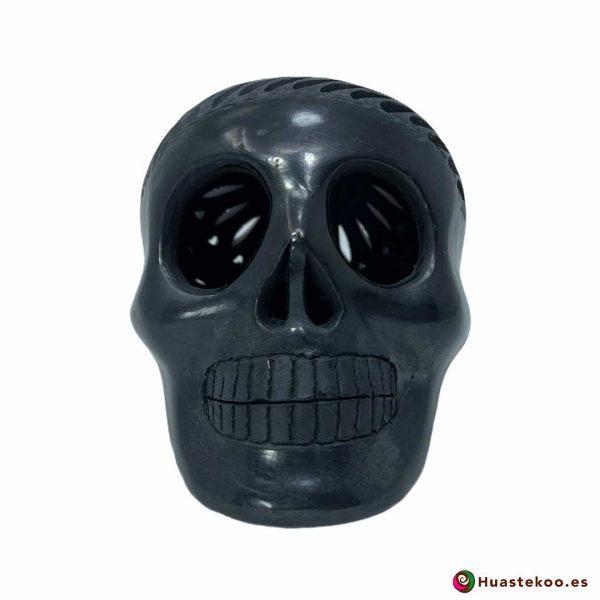 Calavera Cerámica Mexicana de Barro Negro de la Tienda de Regalos Mexicanos Huastekoo España y Europa - H00735 - 5