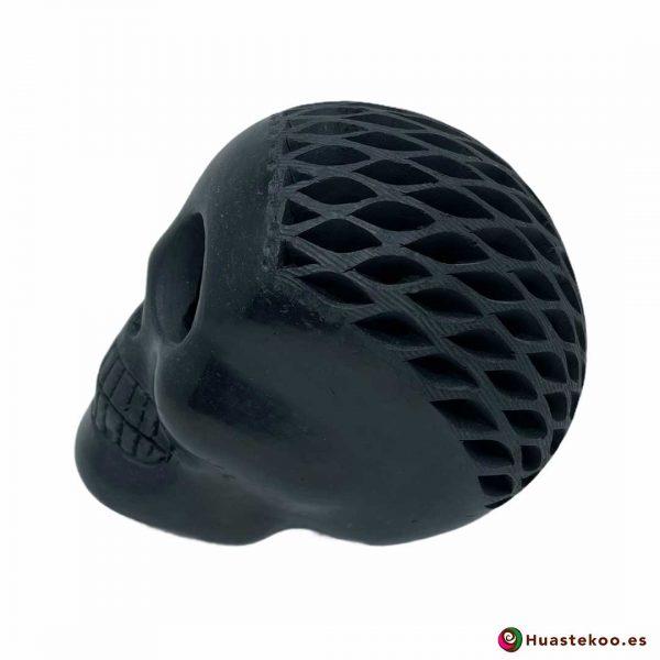 Cráneo Calavera Barro Negro o Cerámica Negra (Pequeño) - Tienda de Regalos Mexicanos Huastekoo España y Europa - H00734 - 2