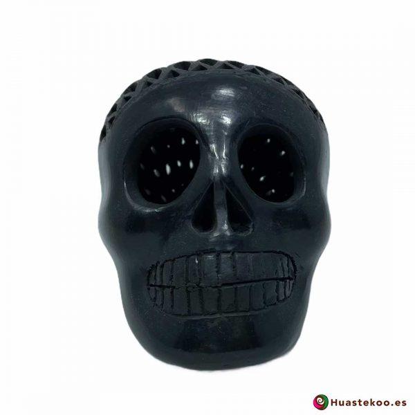 Cráneo Calavera Barro Negro o Cerámica Negra (Pequeño) - Tienda de Regalos Mexicanos Huastekoo España y Europa - H00734 - 4