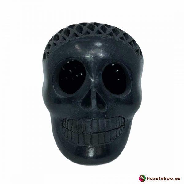 Cráneo Calavera Barro Negro o Cerámica Negra (Pequeño) - Tienda de Regalos Mexicanos Huastekoo España y Europa - H00734
