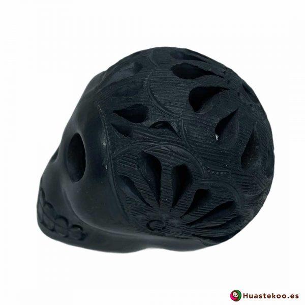 Cráneo Calavera Cerámica Barro Negro (Mini) - Tienda de Artesanía y Regalos Mexicanos Huastekoo España y Europa - H00733 - 2