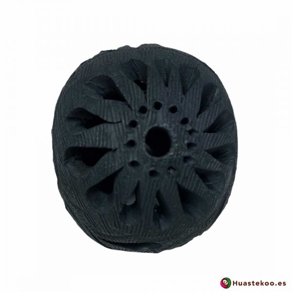 Cráneo Calavera Cerámica Barro Negro (Mini) - Tienda de Artesanía y Regalos Mexicanos Huastekoo España y Europa - H00733 - 3