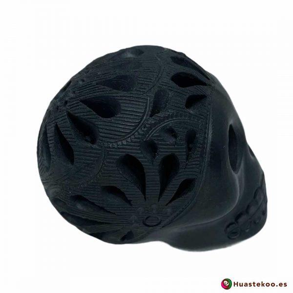 Cráneo Calavera Cerámica Barro Negro (Mini) - Tienda de Artesanía y Regalos Mexicanos Huastekoo España y Europa - H00733 - 4