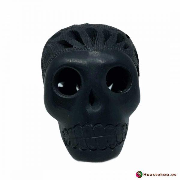 Cráneo Calavera Cerámica Barro Negro (Mini) - Tienda de Artesanía y Regalos Mexicanos Huastekoo España y Europa - H00733 - 5