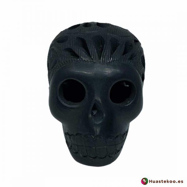 Cráneo Calavera Cerámica Barro Negro (Mini) - Tienda de Artesanía y Regalos Mexicanos Huastekoo España y Europa - H00733